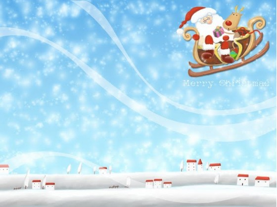 lovely-christmas-cg-art-and-paintings---cute-christmas-artwork-for-kids--santa-claus-fly-in-sky-wallpaper-98057