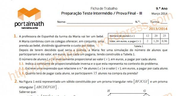 Fichas de preparação para TI's e Exames!