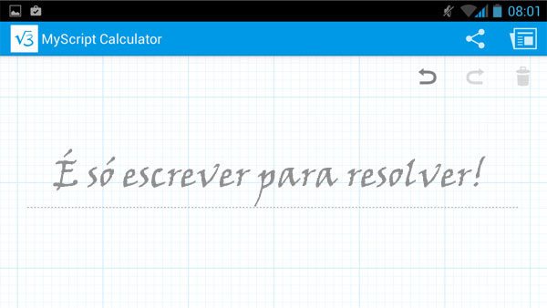 MyScript Calculator - Basta escrever para resolver!