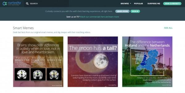 Curiosity.com – Explora excelentes vídeos educativos