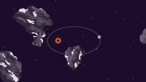 Efeitos de um buraco negro.