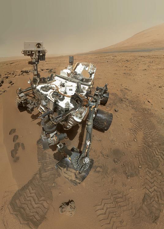 Uma selfie marciana