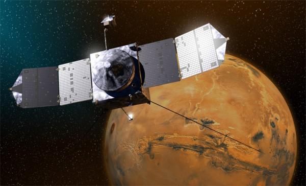 Sonda MAVEN. Créditos: NASA/GSFC