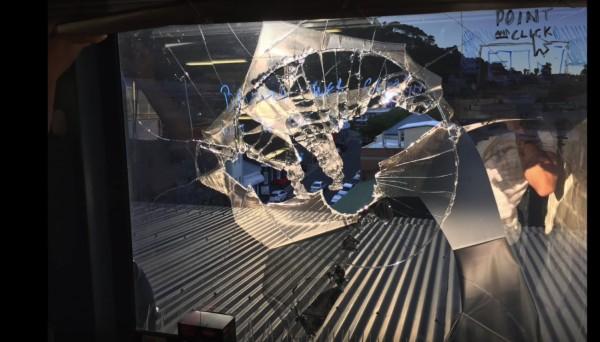 Drone parte janela