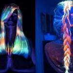 Chegou a moda dos cabelos que brilham no escuro!