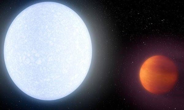 Um planeta quente como as estrelas