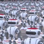 Batido recorde do Guinness do maior número de robôs dançarinos