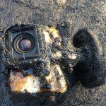 GoPro ficou coberta pela lava, explodiu nas chamas … e sobreviveu