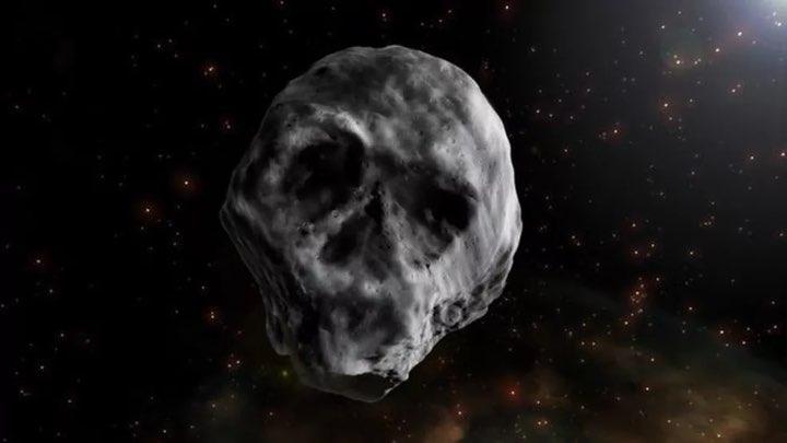 Asteroide em forma de caveira passará perto da Terra em 2018