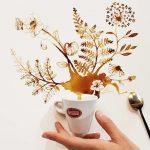 Quando o café derramado passa de asneira a arte
