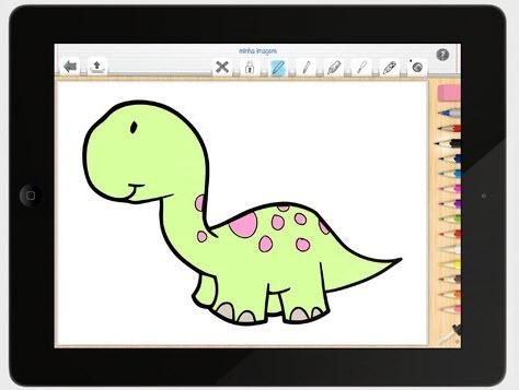 Pictus Dinossauro Vamos Pintar Dinossauros No Ipad Pplware Kids