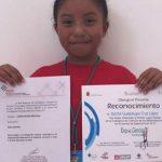Menina de 8 anos ganhou prémio de reconhecimento à mulher
