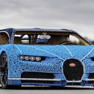 Bugatti Chiron à escala feito em LEGO funciona e foi testado por Andy Wallace