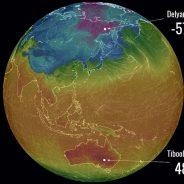 Rússia quase nos -60 °C, Austrália torra nos quase 50 °C