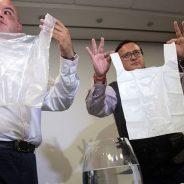 Chilenos criam saco plástico solúvel em água